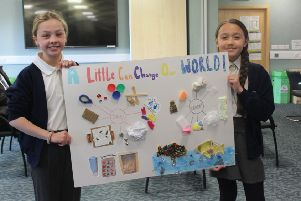 Madison, 11, and Emily, 10, from Corringham School