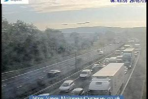 Scene from the M62 westbound this morning.