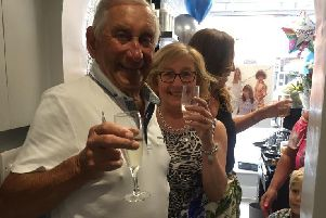 Gordon and Lorraine at the relaunch