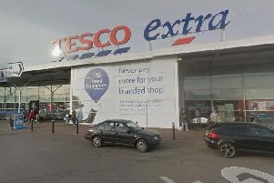 Tesco Extra, on Chesterfield Road South, Mansfield