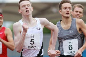 Max Burgin (left) broke a long-standing record at the weekend.