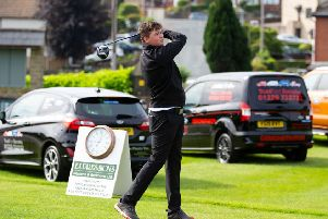 Jack Hampshaw, who won the best nett prize, at Crow Nest Park on Sunday