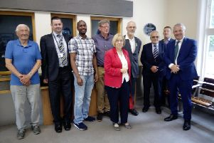 John Mann MP with representatives of the operating companies and Friends of Worksop Station