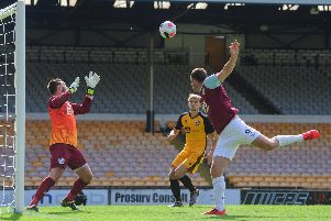 Chris Wood equalises at Port Vale