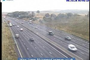 Junction 29a northbound of the M1