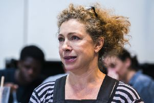 Rehearsals showing An Enemy Of The People @ Graeae Studios. Directed by Adam Penford.'(Taken 22-08-19)'�Tristram Kenton 08/19'(3 Raveley Street, LONDON NW5 2HX TEL 0207 267 5550  Mob 07973 617 355)email: tristram@tristramkenton.com