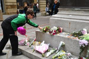 A memorial in Manchester to the terror attack
