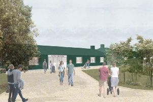 An artist's impression of how the new school in Alfreton will look.