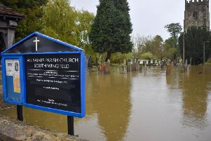 All Saints Parish Church in South Wingfield earlier today.