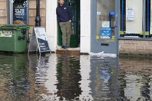 Matlock was badly affected by the floods.