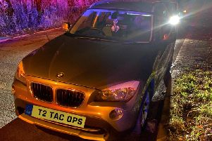 """A driver was arrested on suspicion of drink-driving after swerving """"all over the place"""" on the M55, before coming off at Broughton and allegedly falling asleep at the wheel, Lancashire Police's roads unit said in a tweet (Picture: Lancashire Road Police/Twitter)"""