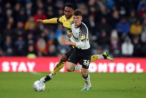 Teenage midfielder Jason Knight, who scored both Derby goals and turned in a man-of-the-match performance.