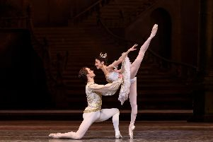 The Royal Ballet production of Sleeping Beauty. Pictured is Yasmine Naghdi as Princess Aurora and Matthew Ball as Prince Florimund. Photo by Bill Cooper.