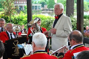 Tom Street, aged 92, who has been conductor of Heage Band for 50 years.