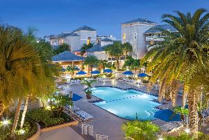 The swimming pool at Marriott Hutchinson Island Beach Resort. Image: Jeff Herron Photography