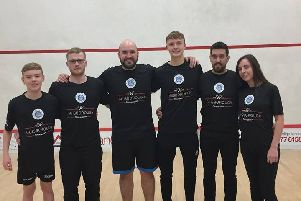Pontefract Squash Team pay their respects to Chris Allinson. Picture submitted