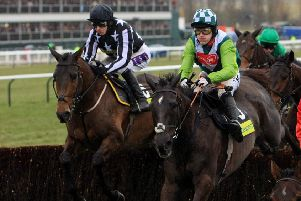 The mighty Denman (right), who won the Hennessy Gold Cup twice.