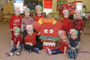 Youngsters at Spring RAF Boulmer Nursery have been exploring all things Chinese and celebrating the Chinese New Year and the Year of the Pig. Picture by Jane Coltman