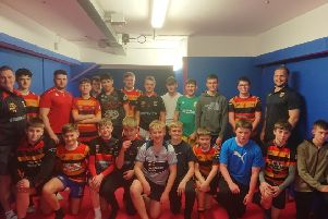 Shaw Cross Sharks Under-14s were the latest junior team to take part in the Rampage scheme.