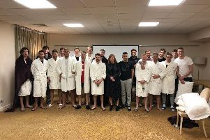 The Doncaster Rovers squad at Champneys Health Spa