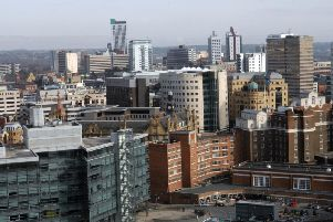 An aerial view of Leeds city centre
