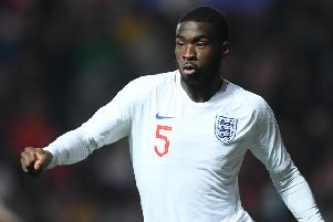 BRISTOL, ENGLAND - MARCH 21: Fikayo Tomori of England during the U21 International Friendly match between England and Poland at Ashton Gate on March 21, 2019 in Bristol, England. (Photo by Harry Trump/Getty Images)