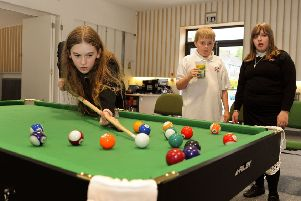 The Lime Tree Youth drop-in service. The centre boasts youth activites such as table tennis and pool.