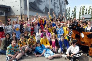 Pupils at Frederick Gent School in South Normanton wore fancy dress to raise money for three charities in 2009.