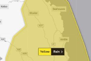 A weather warning is in place has been issued