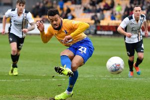 Former Mansfield Town striker Nicky Ajose, who is considering offers from several clubs after his release by Charlton Athletic. (PHOTO BY: Steve Flynn/AHPIX.com)