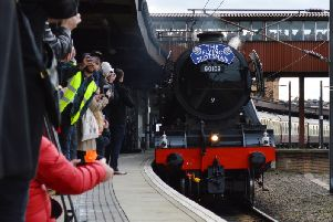 The Flying Scotsman is heading to Chesterfield this weekend. Photo - Network Rail
