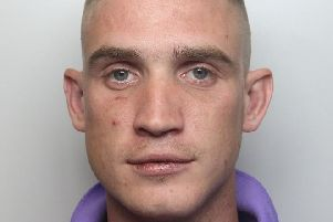 Pictured is Samuel Clarke, 25, of Ashton Close, Swanwick, Alfreton, who has been jailed for 14 weeks after admitting assaulting his girlfriend.