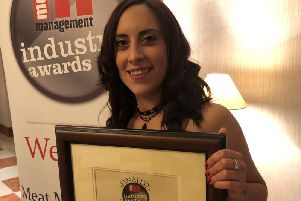 Danielle Trunzo at Meat Management Awards. Photo: C Meat Management
