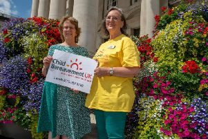 Official launch of Child Bereavement UK in Leeds. Coun Judith Blake with Shirley Potts of Child Bereavement UK.