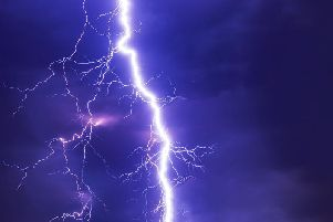 Thunderstorms are expected to hit Derbyshire tomorrow afternoon.