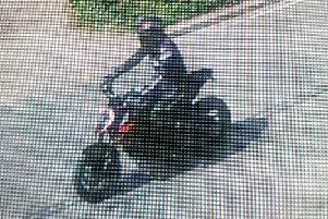 Police believe the rider may be from Derbyshire