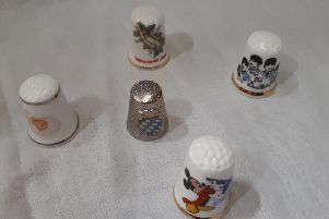 These charming thimbles are individually priced between three and five pounds
