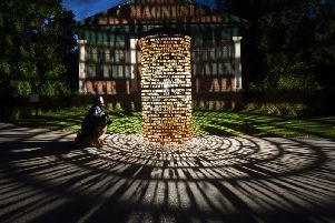 Part of the Harrogate1571 installation which will see Harrogate's skies lit up spectacularly from Harlow Hill and in Valley Gardens.
