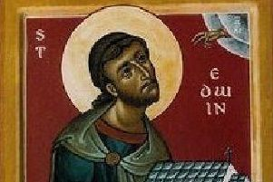 Saint Paulinus of York: 'tall with slight stoop, black hair, thin face, aquiline nose, venerable and awe-inspiring' (Bede).