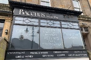 The positive signs looking for staff on the window of the former Bacchus Wine Bar in Harrogate.