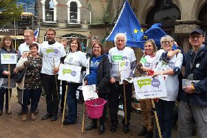 Some of the local members of North Yorkshire for Europe in Harrogate earlier this year protesting against Brexit.