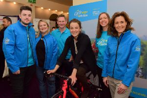 The Cycle Expo Yorkshire team with cycling star, Lizzie Deignan and XSEM's, Charlotte Scouler (second from right).