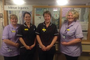 A lifeline for Ripon and the district: staff at Ripon's minor injury unit. Anne Townsend, Clinical Support Worker, Urgent care practitioner Helen Sayer, Urgent care practitioner Jude Watson, and Kate Jones, clinical supervisor.