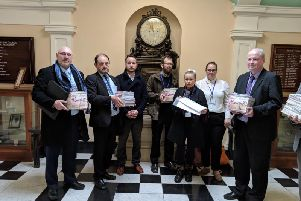 Teachers at The Grove Academy handed a petition with 5,500 signatures to Councillor Patrick Mulligan, North Yorkshire's Executive Member for Education.