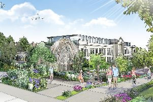 Part of the plans for Crescent Gardens in Harrogate.