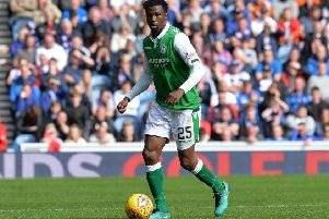 Former Celtic and Hibs defender Efe Ambrose is set to join Derby County. (Photo by Mark Runnacles/Getty Images)