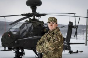 Lance Corporal, James Stark, 22, Tadcaster''Apaches make Arctic debut'The British Army's potent Apache attack helicopters are making their flying debut inside the Arctic circle.'Facing temperatures dropping to -30C and white-out flying conditions, 656 Squadron 4 Regiment Army Air Corps is taking part in Exercise Clockwork at Bardufoss in Norway.'The Apaches are flying alongside the Wildcat battlefield reconnaissance helicopters of the Commando Helicopter Force, learning how to operate together in some of the planet's harshest weather conditions. Training in the Arctic builds on the Apache's battle-winning abilities that have already been proved on combat operations in the maritime and desert environments.'A key role for 4 Regt AAC is to maintain a force of Apaches on standby to provide an aviation strike capability to the Royal Marines of 3 Commando Brigade, the British military's extreme cold weather warfare specialists.'The training culminated in a live firing package, which saw groundcrew deploy out in to