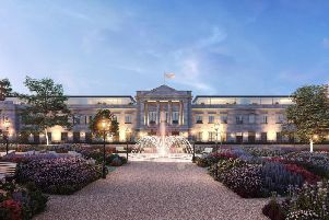 How the former council headquarters at Harrogates Crescent Gardens may end up looking.