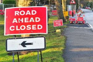 Bad signs for drivers - Roadworks near the Prince of Wales roundabout in Harrogate. (Pictue by Gerard Binks Photography)