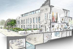 Part of the development plans for Crescent Gardens in Harrogate showing the subterranean wellness centre.